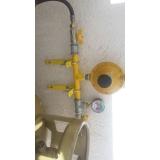 tubulação com gás gás natural
