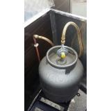 tubulações de gás comgas Residencial Burato